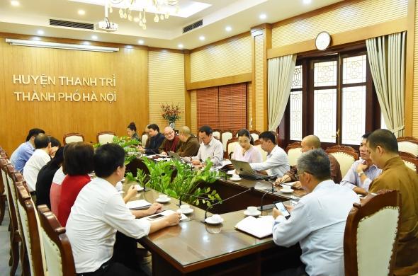 UBND Huyện Thanh Trì : Họp triển khai kế hoạch tổ chức Hội thảo khoa học tôn vinh về nhân vật Lịch sử